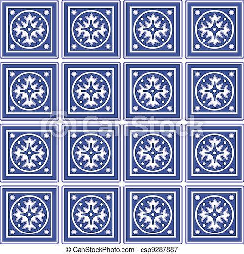 Seamless Tiles, Mexican Ceramic - csp9287887