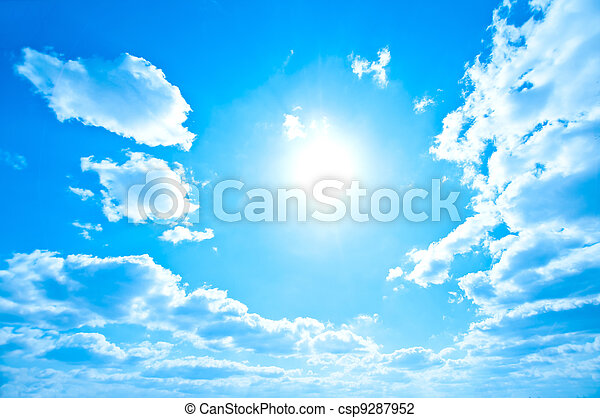 Bright sun and sky - csp9287952