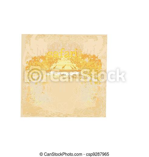 African fauna and flora - csp9287965