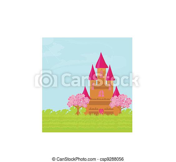 Magic Fairy Tale Princess Castle  - csp9288056