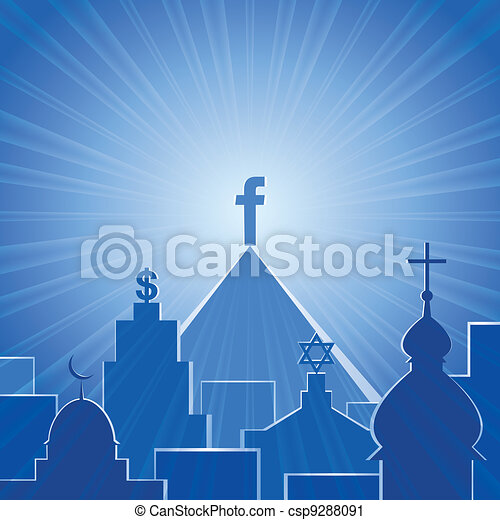 New religion. Social network - csp9288091