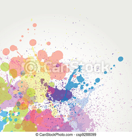 Vector color paint splashes - csp9288099