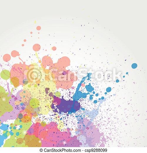 Vector color paint splashes - csp9288099