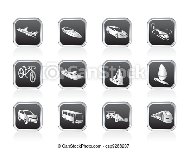 transportation and travel icons - csp9288237
