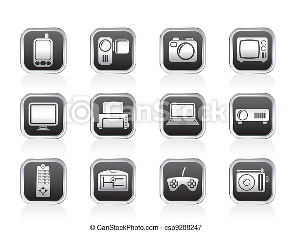 Hi-tech and technical icons - csp9288247