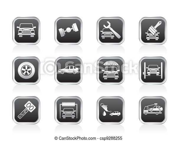 service and transportation icons - csp9288255