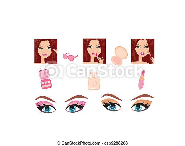 Make-up girl  - csp9288268