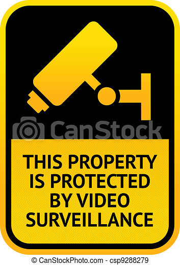 Video surveillance sticker - csp9288279