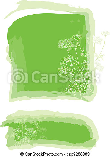 Herbal background - csp9288383