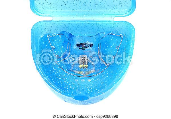 orthodontist braces - csp9288398