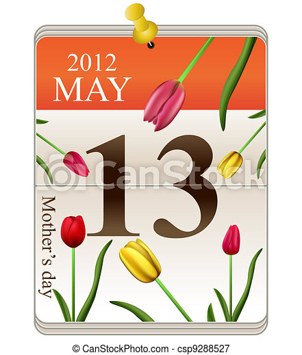 Calendar of mothers day 2012 - csp9288527