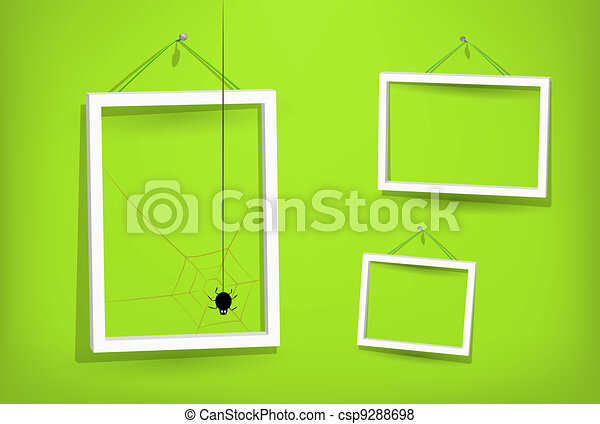White frames on the wall - csp9288698