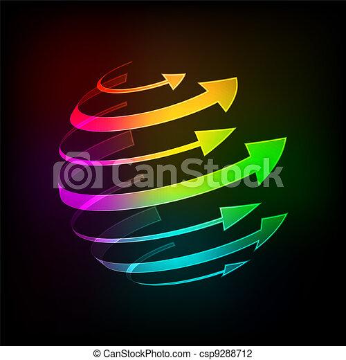 Bright arrows - csp9288712