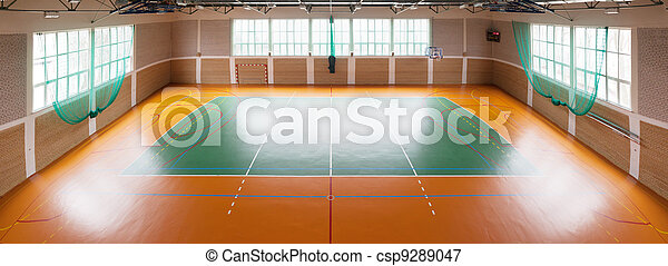 Shiny basketball gym - csp9289047