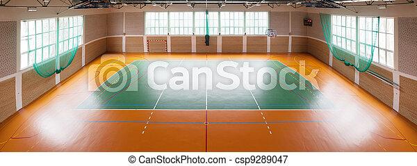 Shiny basketball gym - csp9289047