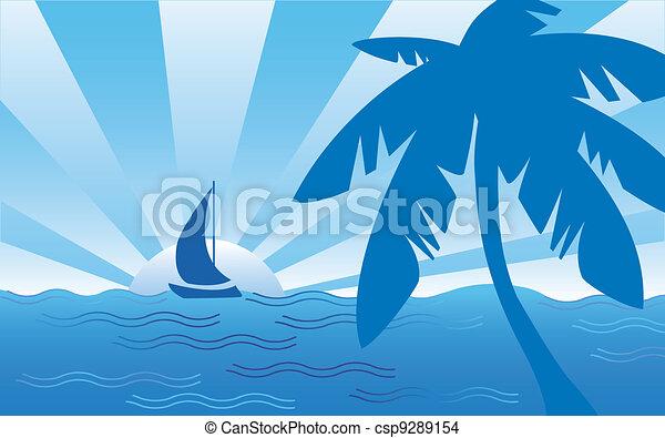 Cool Seaside Landscape - csp9289154