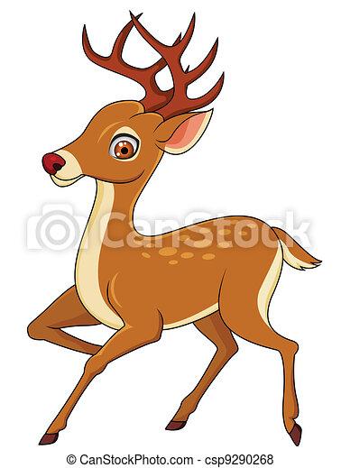 Vettore di cervo cartone animatocsp9290268 cerca - Cartone animato immagini immagini fantasma immagini ...
