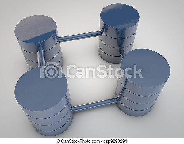 Symbolic Database structures over white background - csp9290294