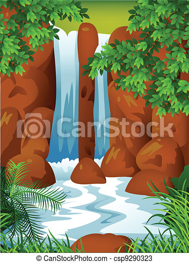 Waterfall background - csp9290323