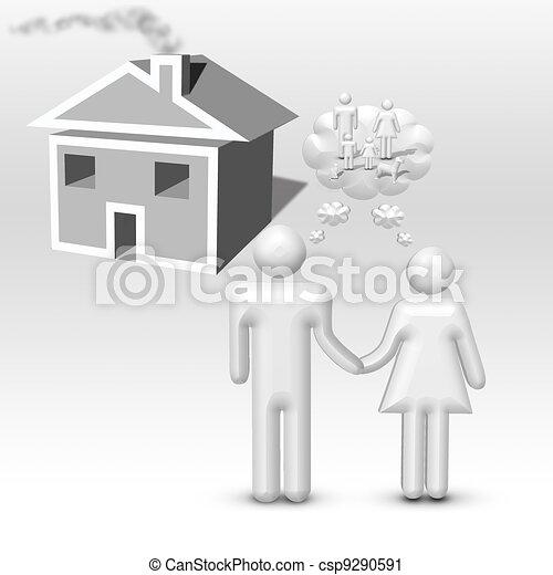 Couple Imagines family - csp9290591