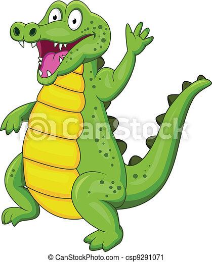 Crocodile cartoon  - csp9291071