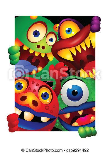 Monster cartoon - csp9291492