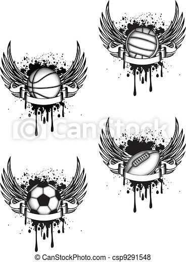 Sports emblem - csp9291548