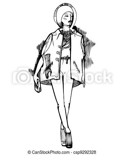 girl in a warm vest - csp9292328