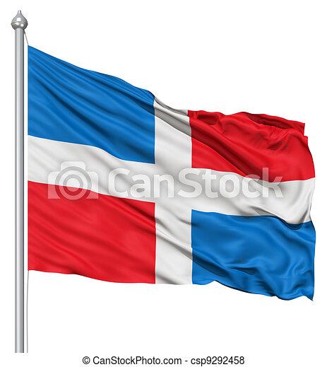 Waving Flag of Dominican Republic - csp9292458