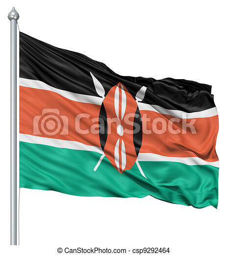 Waving Flag of Kenya - csp9292464