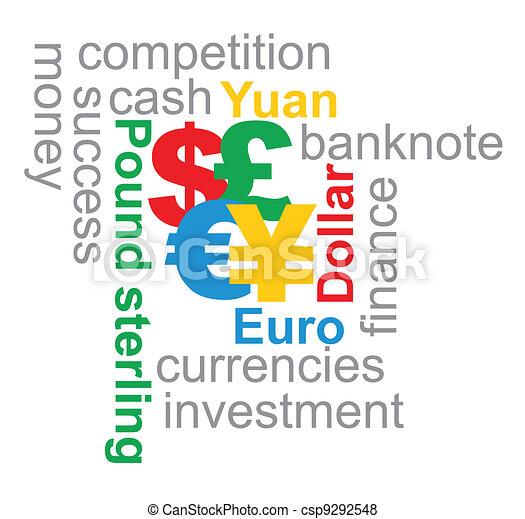 Major currencies illustration - csp9292548