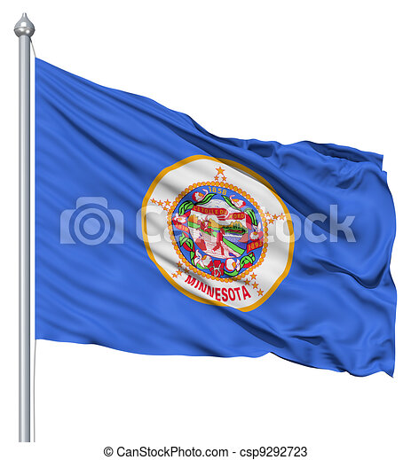Waving Flag of USA state Minnesota - csp9292723
