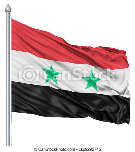 Waving Flag of Syria - csp9292745