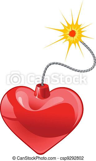 Heart bomb - csp9292802