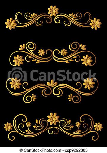 Vintage floral elements - csp9292805