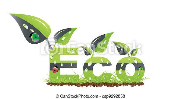 Ecology word concept - csp9292858