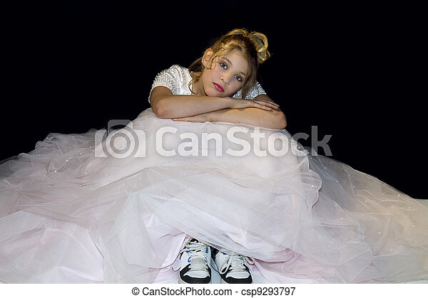 Dreaming Girl In Prom Dress - csp9293797