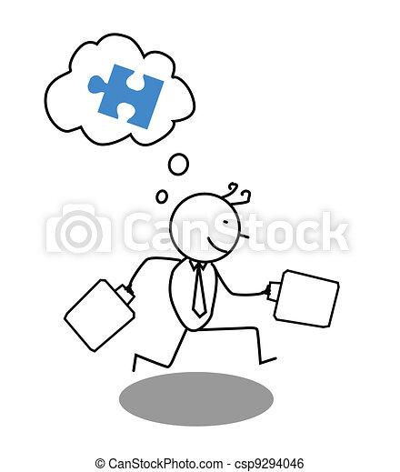 Businessman run for Cooperation - csp9294046