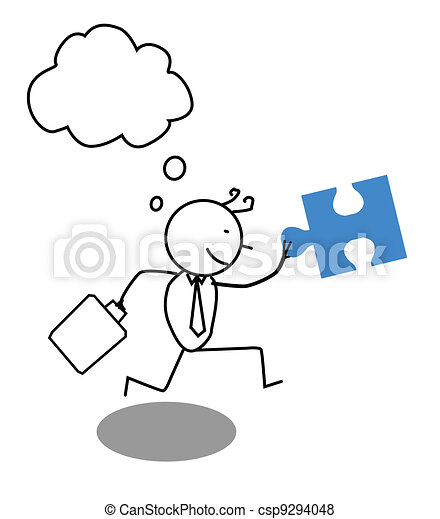Businessman run for Cooperation - csp9294048