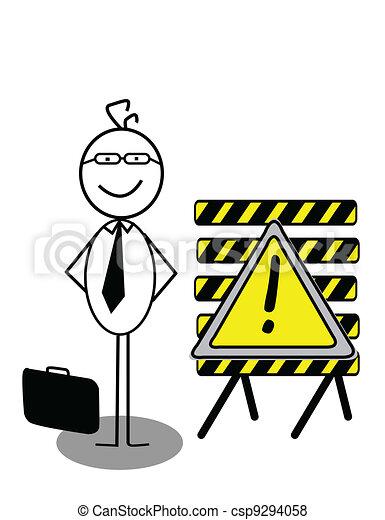 Businessman UnderConstruction - csp9294058