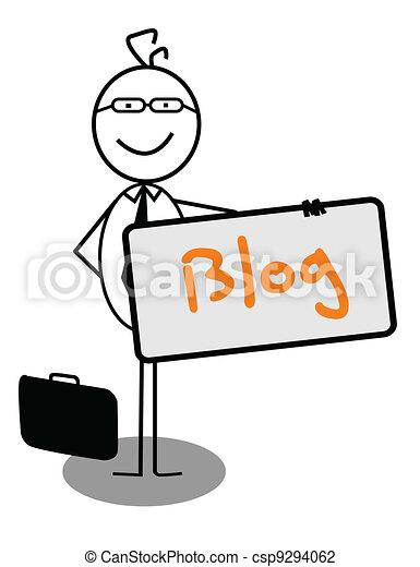 Businessman blog Banner - csp9294062