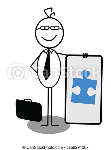 Businessman Cooperation Banner - csp9294087
