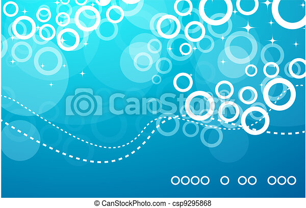 Abstract vector blue deep background - csp9295868