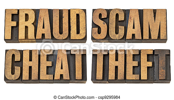 fraud, scam, cheat and theft - csp9295984