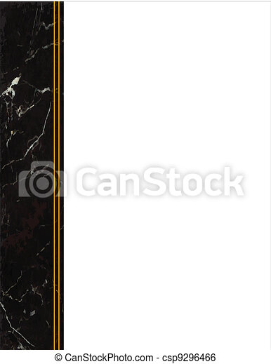 Black Marble Side Frame - csp9296466