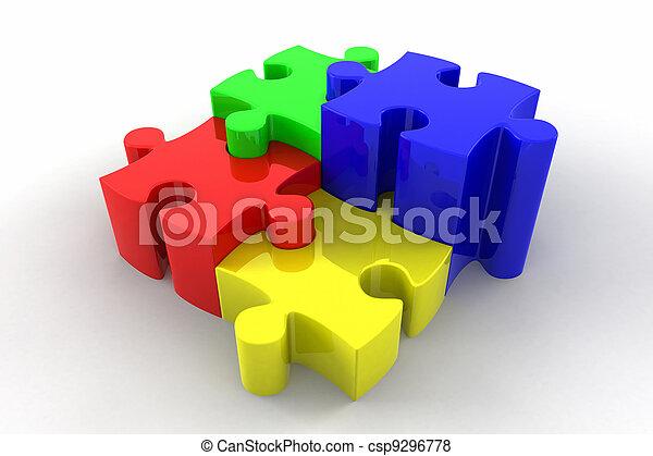 3d Puzzle Pieces Interlocking - csp9296778