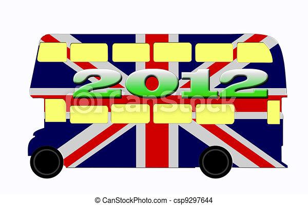 London bus, Olympics 2012, England - csp9297644