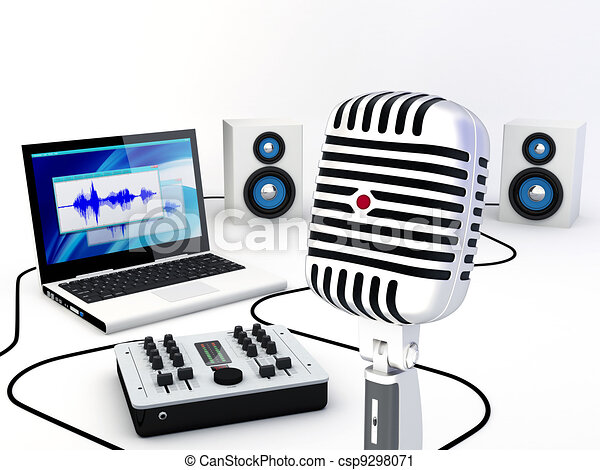 Home Recording Studio Equipment - csp9298071