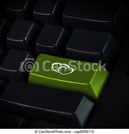 illustrations de informatique clavier et coeur symbole informatique csp9298115. Black Bedroom Furniture Sets. Home Design Ideas