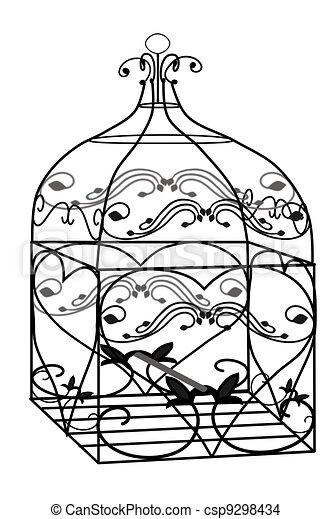 Dessin de cage oiseau 3d illustration de a 3d fil oiseau csp9298434 recherchez - Dessin oiseau en cage ...